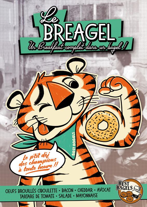 Breakfast-bagel